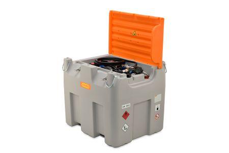 Cemo mobile Tankstelle für Diesel +AdBlue®, DT-Mobil Easy Combi Premium 850/100 Liter,  Elektropumpe Cematic Duo 24/12V, 420W,ca.70/34l/min., Schlauchaufroller mit 8m, autom. Zapfventil, Deckel – Bild 1