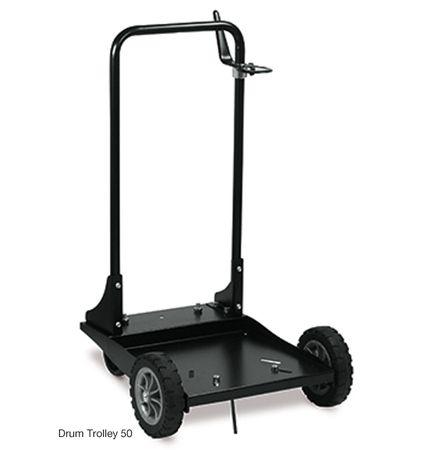 PIUSI Fasswagen - Fahrwagen - Fasskarre mit 4 Rädern für 60l Fass oder 50kg Fettgebinde, Fetteimer