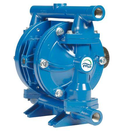"""Doppelmembranpumpe 1/2"""" BSPT ALU/BUNA,  selbstansaugende, trockenlaufunempfindliche, feststoffsichere, druckluftbetriebene Doppelmembranpumpe. Förderleistung max. 77 l/min. – Bild 1"""