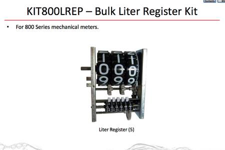 Ersatzteil Set FillRite KIT 800 LREP: bestehend aus: 1x Register