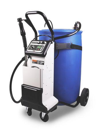 Piusi Delphin-Pro X DC mobile AdBlue® PKW Betankungsanlage mit Akku, für 60-220 Liter Gebinde. Automatische PKW Befüllung mit Gaspendel und patentiertem Sicherheitsfüllventil, Mengenvorwahl und autom. Regelung der Füllgeschwindigkeit. – Bild 1