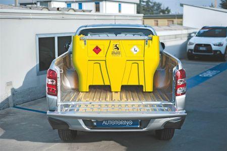 CARRYTANK 440 PICKUP ES Mobiler Dieseltank aus HDPE, 440 Liter zum Transport auf einem PickUp, Pumpe 12V 40l/min, 4m Schlauch, autom. Zapfventil  – Bild 1