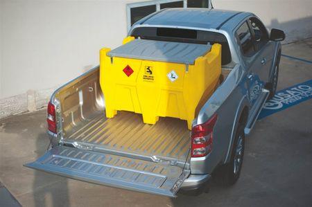 CARRYTANK 440 PICKUP ES Mobiler Dieseltank aus HDPE, 440 Liter zum Transport auf einem PickUp, Pumpe 12V 40l/min, 4m Schlauch, autom. Zapfventil  – Bild 2
