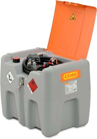 Cemo DT-Mobil easy 210, transportable Dieseltankstelle aus Kunststoff Zulassung nach ADR 1.1.3.1C. 12V Dieselpumpe Centri max. 30l/min, 4m Zapfschlauch, autom. Zapfpistole mit Drehgelenk und Klappdeckel