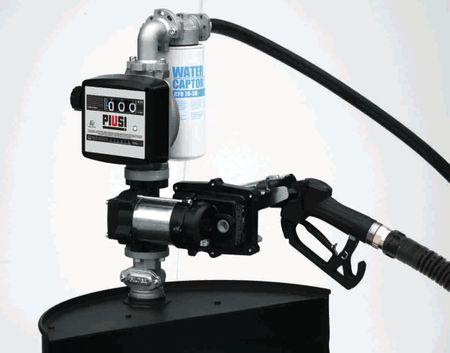 """Piusi Drum Ex50 Benzinfasspumpe 230V exATEX geschützt, max. 50l/min. Inkl. Zählwerk K33, 4m Benzinschlauch, autom. Zapfpistole, Filter mit Wasserabsorber, 2"""" Schnellkupplung mit Schmutzfänger, Teleskopsaugrohr aus Stahl – Bild 1"""