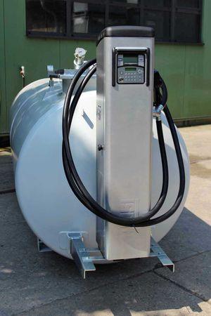 Tubicus® 5000 Doppelwandiger Lagerbehälter, Vakuum Lecküberwacht, lackiert in RAL7032 lichtgrau, 4360 x 1250 x 1700mm (LxBxH)inkl, PIUSISelfService 70 MC mit Tankdatenerfassung – Bild 1