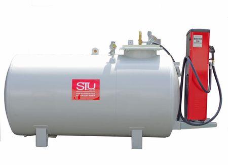 Tubicus® 5000 Doppelwandiger Lagerbehälter, ohne Pumpe, Vakuum Lecküberwacht, lackiert in RAL7032 lichtgrau, 4360 x 1250 x 1700mm (LxBxH) – Bild 1