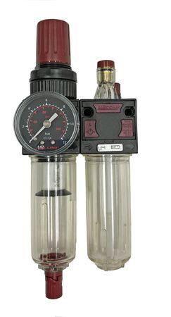 """Wartungseinheit 1/4"""", max 8 bar, bestehend aus: Druckregler, Manometer, Wasserabscheider, Öler"""