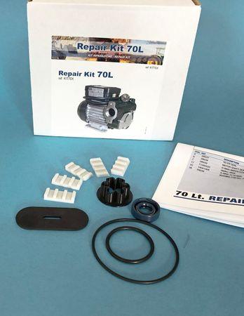 Reparatur-Set für Pumpe PA1-70: Gleitflügelsatz (5 Stück), Wellendichtring, Rotorsplint, O-Ring Satz