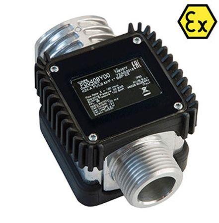 """Piusi Messkammer Turbinenzähler K24A Pulser mit ATEX Zulassung 92 Pulse pro Liter Anschlüsse 1"""" IG AG Durchfluss 7-120 Liter pro Minute geeignet für Benzin Diesel Kerosin"""
