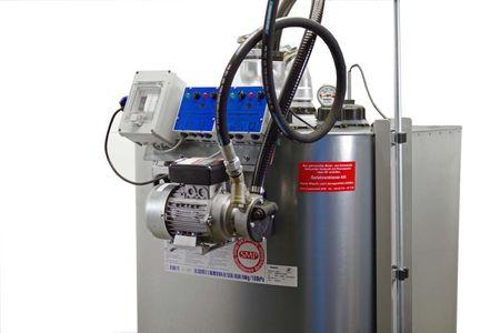 Altölsammeltank Modell VET 1000 mit 230V Pumpe, Saugsonde mit 2m Schlauch, Überfüllsicherung, Leckwarngerät, Absaugrohr mit TW Kupplung – Bild 1