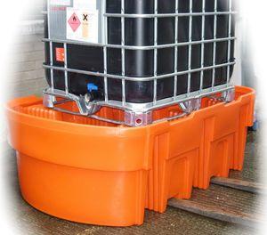 Kingspan PE Auffangwanne IBC - 1000 stabile Ausführung mit integrierten Gabeltaschen.  Zur Lagerung von wassergefährdeten Stoffen mit einem Flammpunkt  >100°C max. Traglast 2.000kg, max. Auffangvolumen 1000 l, DIBt-Zulassung Z-40.22-472 001