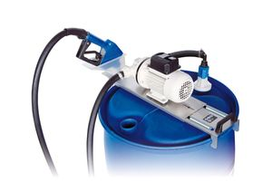 230V Piusi AdBlue® Fasspumpenset SUZZARA Blue Drum-SB: Membranpumpe, Edelstahl Montagekonsole, automatische Zapfpistole, Saugschlauch mit SEC Kupplung, 6m Befüllschlauch, Saugrohr für AdBluefass 001