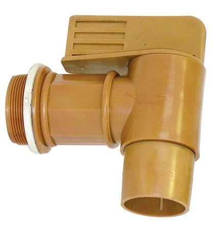 """Fasshahn aus Polyethylen Anschlussgewinde 2"""" AG mit O-Ring, Sehr hohe Auslaufleistung. Geeignet für Öle, Kühlschmierstoffe und Glycol. Der Fasshahn ist nicht für brennbare Flüssigkeiten geeignet!"""