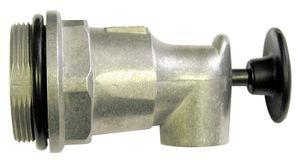 """Selbstschließender Fasshahn mit Druckknopf aus Aluminium mit 2"""" Fassgewinde mit O-Ring. Geeignet für Öle und Glykol 001"""