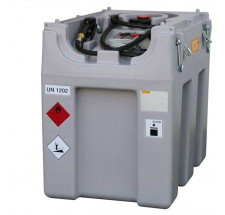 Cemo DT-Mobil Easy 600 mobile Tankanlage für Diesel aus Kunststoff mit ADR Zulassung. Inhalt 600 Liter. 12V Dieselpumpe 40l/min, 4m Schlauch, autom. Zapfpistole