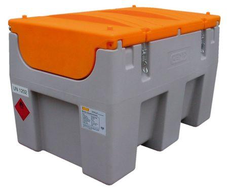 Cemo DT-Mobil Easy 460L Transportable Dieseltankstelle aus Kunststoff mit ADR Zulassung. Ausstattung: Klappdeckel 24V Betankungspumpe max. 40l/min, 4m Befüllschlauch, automatisches Zapfventil mit Drehgelenk. – Bild 1
