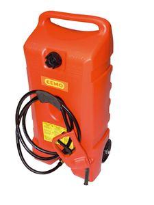 Cemo 53L Kraftstofftrolley aus HD-PE, mit Rollen und Handgriff, Zapfpistolenpumpe 7,5 l/min., 3m Zapfschlauch. 001