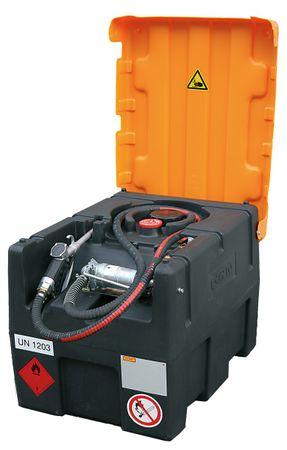 Cemo KS Mobil Easy 120l Mobiler Kraftstofftank mit Handpumpe, Klappdeckel für Benzin und Benzingemisch, ADR zugelassen