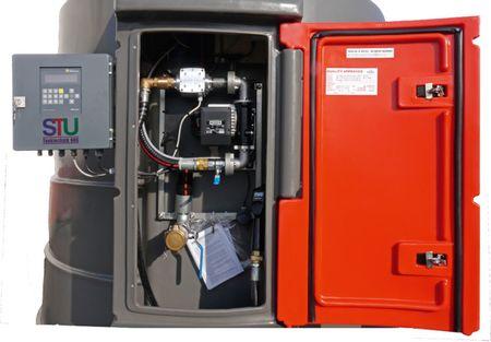 Kingspan Fuelmaster, doppelwandige Dieseltankstelle mit integriertem Dieselpumpenset im abschließbarem Schrank. Volumen 5000L, Tankautomat HDAeco für max. 2000 Nutzer/Fahrzeuge – Bild 2