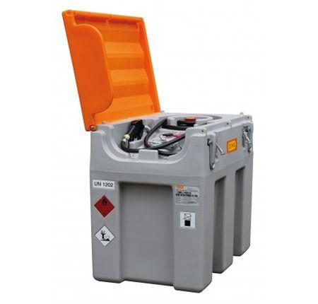 Cemo DT-Mobil easy 600L-24V mobile Tankanlage Dieseltankstelle aus Kunststoff mit ADR Zulassung. Ausstattung: 24V Dieselpumpe 40l/min, 4m Schlauch, autom. Zapfpistole, Klappdeckel