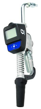 """Graco Schmierölzähler Handdurchlaufzähler SDM5 mit Digitalanzeige, Handgriff mit Drehgelenk 1/2"""" IG, gebogenes Auslaufrohr ø 16mm mit Tropfenstopp-Funktion. Durchfluss max. 19 l/min. – Bild 1"""