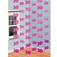 Girlande 30. Geburtstag pink 6x2m