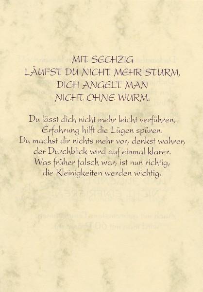 Grußkarte Urkunde Zum 60. Geburtstag herzliche Glückwünsche A5