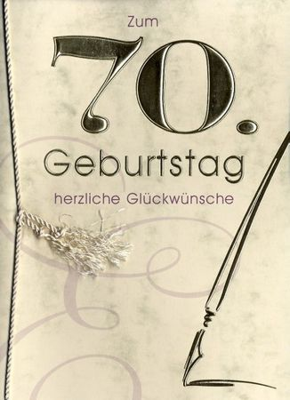 Grußkarte Urkunde Zum 70. Geburtstag herzliche Glückwünsche A5