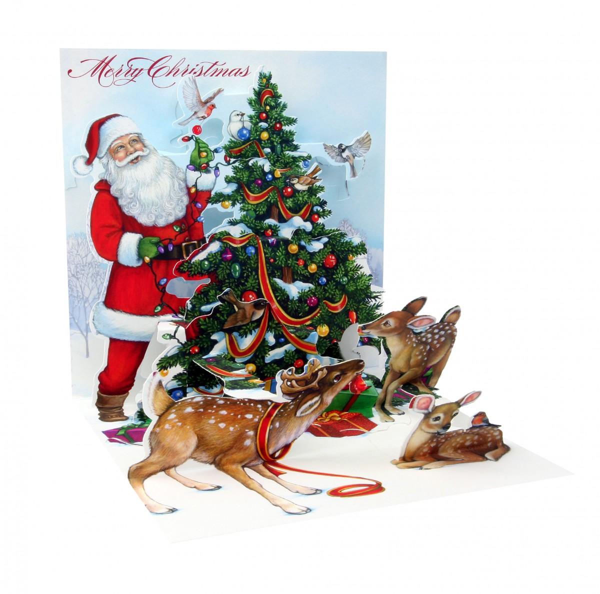 Pop Up Weihnachtskarte 3D Frohe Weihnachten 13,3x13,3 cm