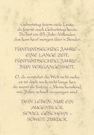 65 Geburtstag Gla Ckwa Nsche Spra Che Und Texte Kostenlos