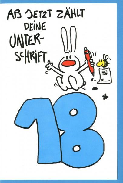 Riesen Grußkarte Humor 18 Ab Jetzt Zählt Deine Unterschrift A4
