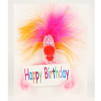 Popup Geburtstagskarte Happy Birthday Schreck in Pink ZZ Rock it 16x16 cm