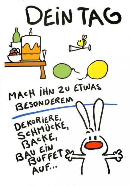 Riesen-Geburtstagskarte Humor Glückwunschkarte Dein Tag mach ihn zu ...
