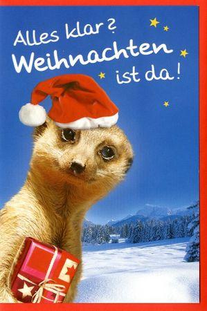 Weihnachtskarte Grußkarte Alles klar? Weihnachten ist da 17x11,5 cm