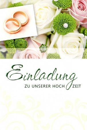 Einladungskarte Hochzeit Packungsware Feier Inhalt 5 Karten