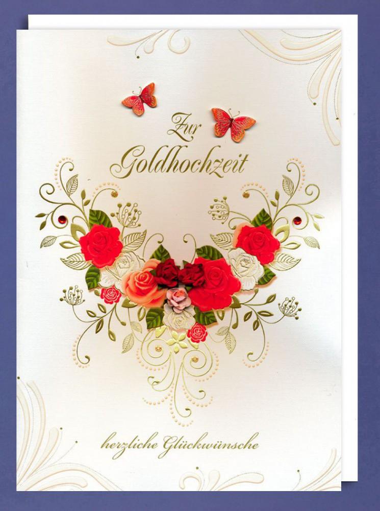 Riesen Goldene Hochzeit Grusskarte Zur Goldhochzeit Herzliche