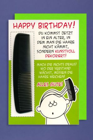 Grußkarte Geburtstag Karte Humor Applikation KAMM Happy Birthday! C6