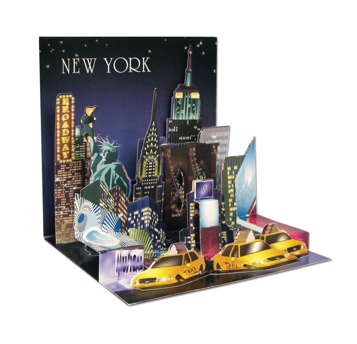 Pop Up 3D New York PopShot StädteKarte Geburtstag Grußkarte Tourist Highlights 13x13cm