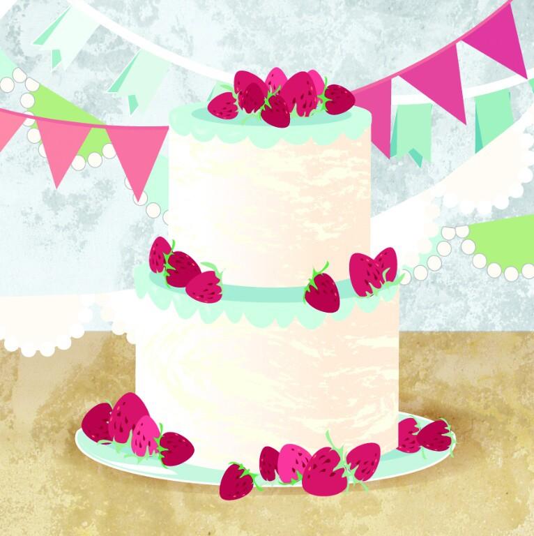 Pop Up 3D Geburtstag Mini Grußkarte PopShot Happy Birthday Geburtstag Kuchen 7,6x7,6cm