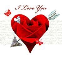 Valentinstag Swarovski Elements Geburtstag Grußkarte Handmade PopShot Liebe Love RosenHerz 8x8cm