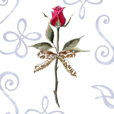 Swarovski Elements Geburtstag Grußkarte Handmade PopShot Liebe Danke Rose Stiel 8x8cm