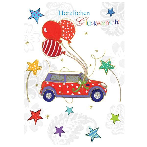 Swarovski Elements Geburtstag Grusskarte Handmade Popshot Gluckwunsch