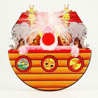 Pop Up Geburtstag ZZ Design Grußkarte PopShot Tiere  Noahs Ark 16x16cm