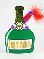 Pop Up Geburtstag Liebe ZZ Design Grußkarte PopShot Congratulation Champagner 16x16cm
