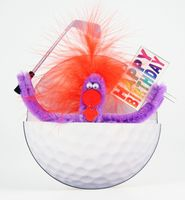 Pop Up Geburtstag ZZ Design Grußkarte PopShot Happy Birthday Golf 16x16cm