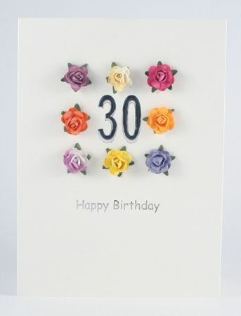 Pop Up Geburtstag ZZ Design Grußkarte PopShot 30 Happy Birthday 8 Rosen 18x13cm