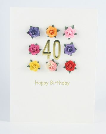Pop Up Geburtstag ZZ Design Grußkarte PopShot 40 Happy Birthday 8 Rosen 18x13cm