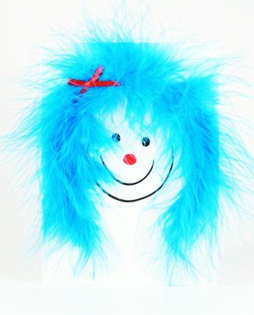 Pop Up Geburtstag ZZ Design Grußkarte PopShot hellblau Hair Lady 13x18cm