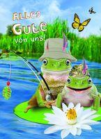 Riesen Geburtstag A4 Humor Grußkarte Googlies PopShot Alles Gute von uns Frösche A4
